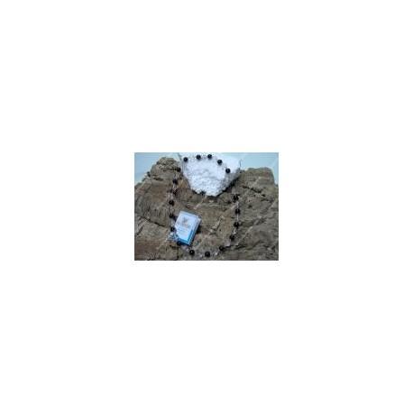 Collana onice cristallo di rocca e swarovski 02
