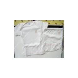 Completo bimba maglietta e mutandina di cotone