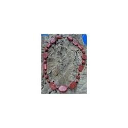 """collana di corallo fossile e cristalli swarovski """" Paola """""""