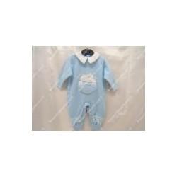 Tutina di lana per neonato colore cielo