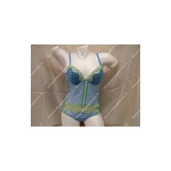 "Woman corset bra and string ""Kristal"""