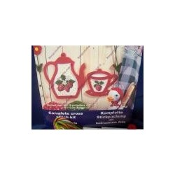 Complete cross sticht kit, red