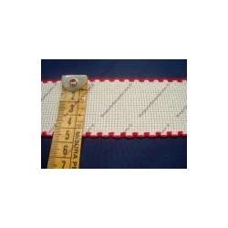 Bordo in tela aida cm 4,5 colore bianco e rosso