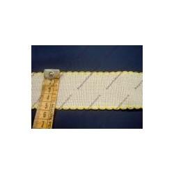 Bordo in tela aida cm 4,5 colore bianco e giallo