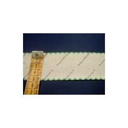 Bordo in tela aida cm 4,5 colore bianco e verde