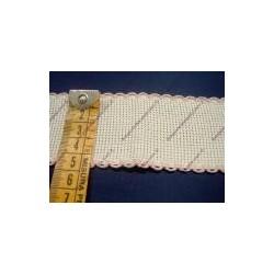Bordo in tela aida cm 4,5 colore bianco e rosa
