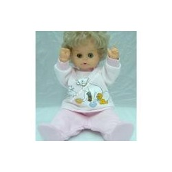 Baby soft cotton long sleeve shirt and pants, pink color