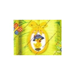 Complete cross sticht kit little chick with hat