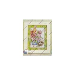 Cross-sticht kits with flower var. 8077