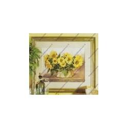 Cross-sticht kits with yellow sunflower art. 8043