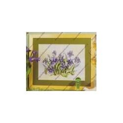 Cross-sticht kits with flower art. 8075