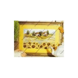 """Cross-sticht kits """" house and sunflower """" art. 8048"""