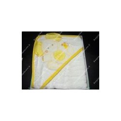 "Baby bathrobe art. "" Amici felici "" yellow colors"