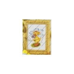 "Cross-stitch kits "" Duck with flower "" Orchidea Art. 7154"