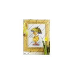 "Cross-stitch kits "" Duck with umbrella "" Orchidea Art. 7152"