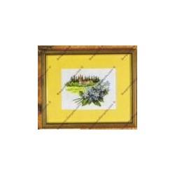 """Kit da ricamare """" Fiorellini """" Orchidea Art. 7524"""