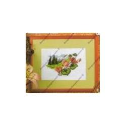 """Kit da ricamare """" Fiorellini """" Orchidea Art. 7528"""