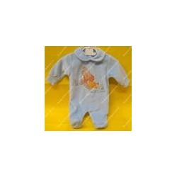 """Baby jumpsuit chenille """" Lady and the Tramp """" light blue"""