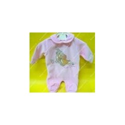 """Baby jumpsuit chenille """" Lady and the Tramp """" pink color"""