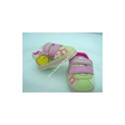 Scarpine Winnie The Pooh, sportive con velcro, rosa e verde