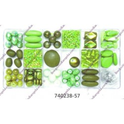 Set perle tonalit verde var. 740238-57