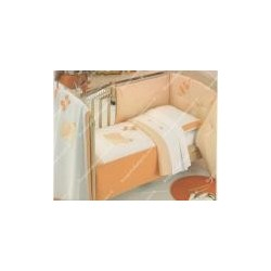 Set con trapunta, paracolpi, lenzuolino e copertina art. LUMACA