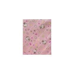 """Tessuto di cotone rosa """" Kitty """""""
