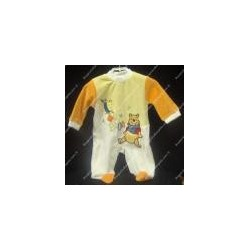 Baby jumpsuit chenille yellow and orange colour WINNIE THE POOH