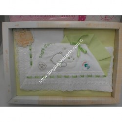"Light green Sheet for cradle "" Amore """