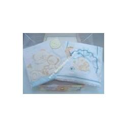 Scrigno due cassetti, lenzuolino e copertina per lettino CIELO