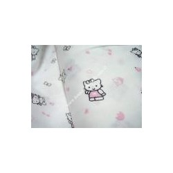 "Piquet cotton fabric "" Kitty """