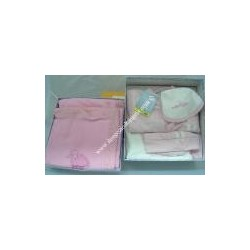 Confetion with layette for baby girl