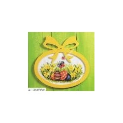 Complete cross sticht kit butterfly with plywood frame included