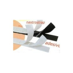 Velcro bianco adesivo, alt. cm. 2 asola