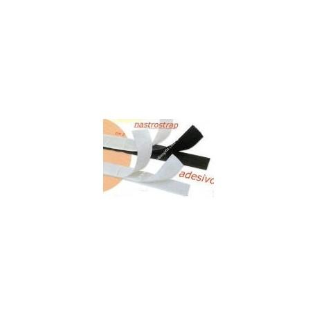White adhesive velcro h cm. 2