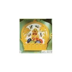 Kit da ricamare, pulcino con api, con cornice inclusa art. 6519