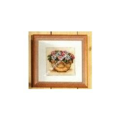 """Kit da ricamare """" Fiorellini rosa """" Orchidea Art. 8158"""