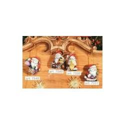 4 Counted cross-sticht hand puppets Santa Claus var. 7548-49-50-