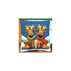 Elk Front Cushion embroidery VERVACO art. 928