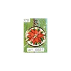 Complete cross sticht kit with PLASTIC frame included art. 6081