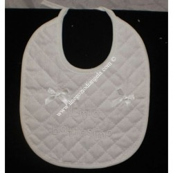 Cristening cotton bib
