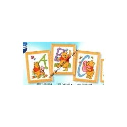 Kit per iniziale Disney Winnie The Pooh by Vervaco