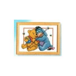 Kit Disney, Winnie e Ih-oh abbracciati 18x13 cm.