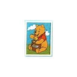 Vervaco Disney Tapestry Kit Winnie The Pooh 13x18 cm.