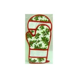 Bis Holly oven: oven mitt and pot holder, Christmas