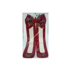 HAPPY HOLIDAYS bow with aida