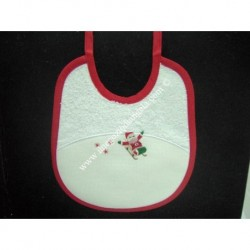 Bib with pocket canvas SANTA CLAUS WITH BAG