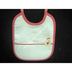 Bib with pocket aida fabric, packet GIFT