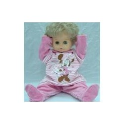 Baby chenille long sleeve shirt and pants, pink color