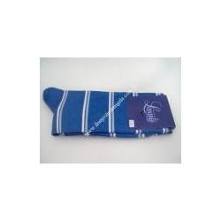 Calza lunga NICK, cotone col. azzurro fantasia n 43/46